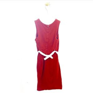 James Perse Dresses - james perse / red sleeveless casual belted dress